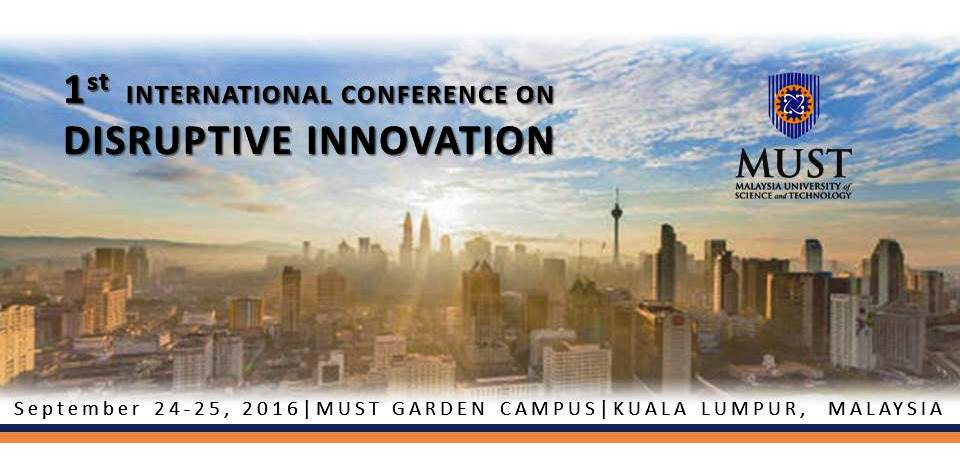 [Call for Papers] International Conference on Disruptive Innovation 2016