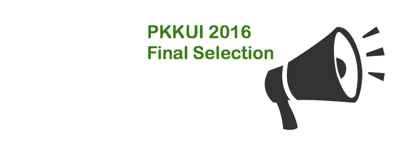 Announcement for PKKUI 2016: Founded Proposal