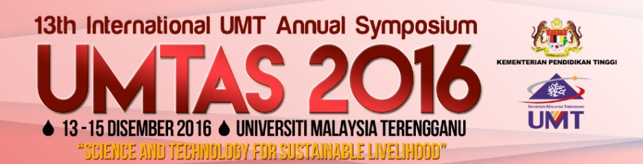 [CALL FOR PAPER] Universiti Malaysia Terengganu International Annual Symposium on Sustainability Science and Management (UMTAS) 2016