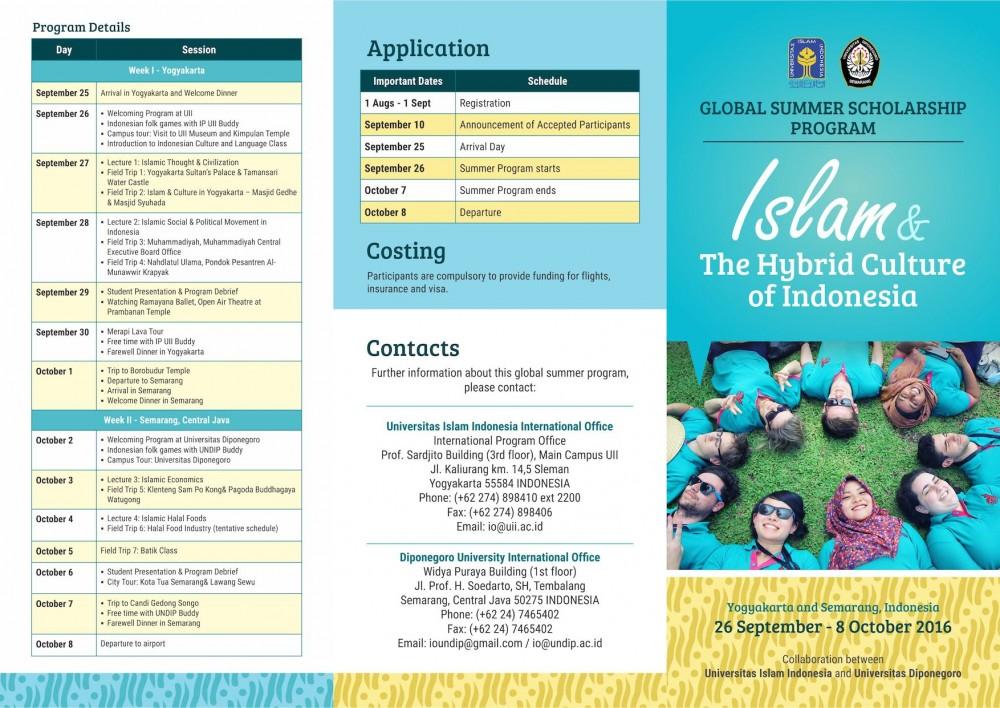 Leaflet joint summer Program Undip PKKUI