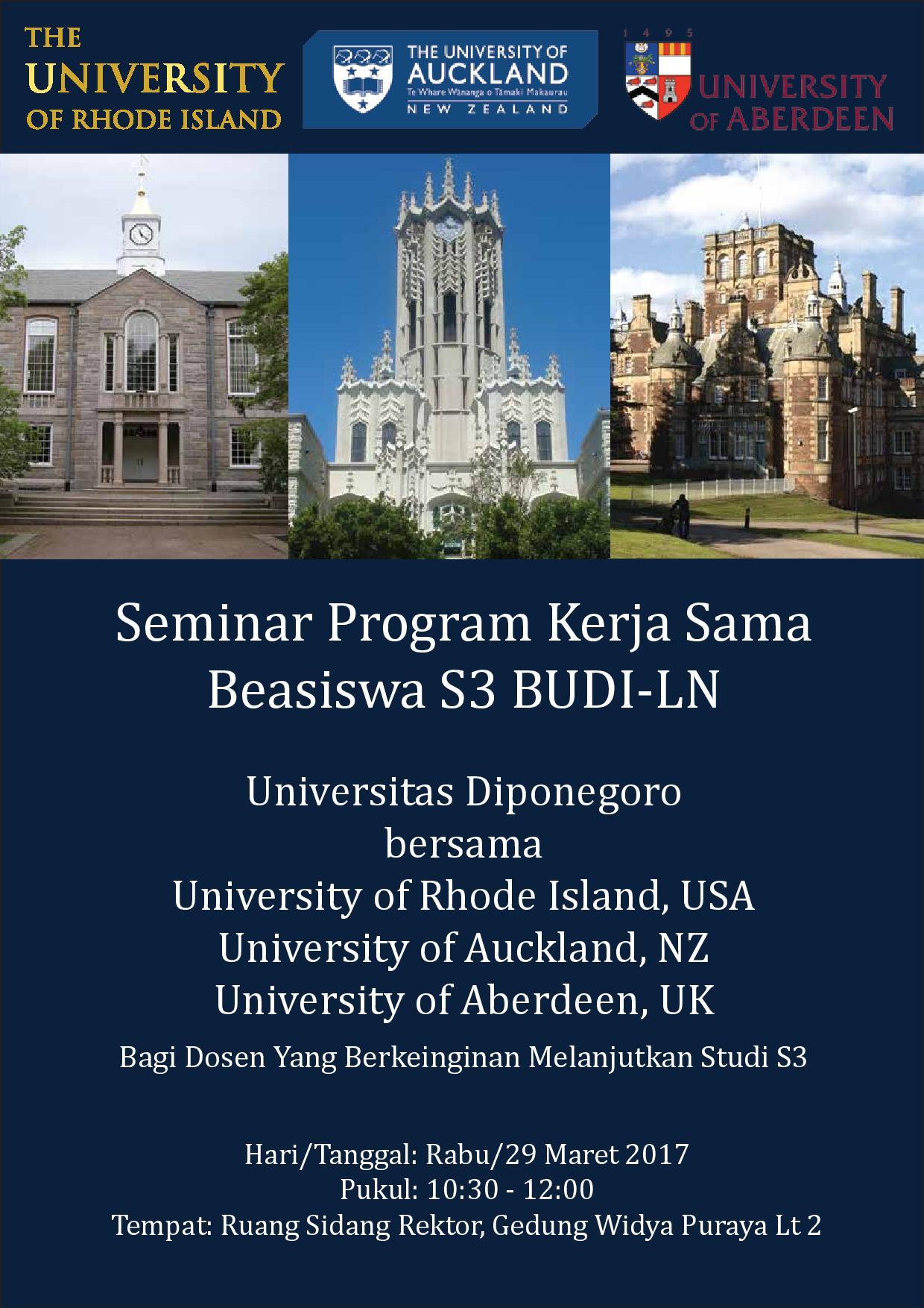 Seminar Program Kerja Sama Beasiswa S3 BUDI-LN