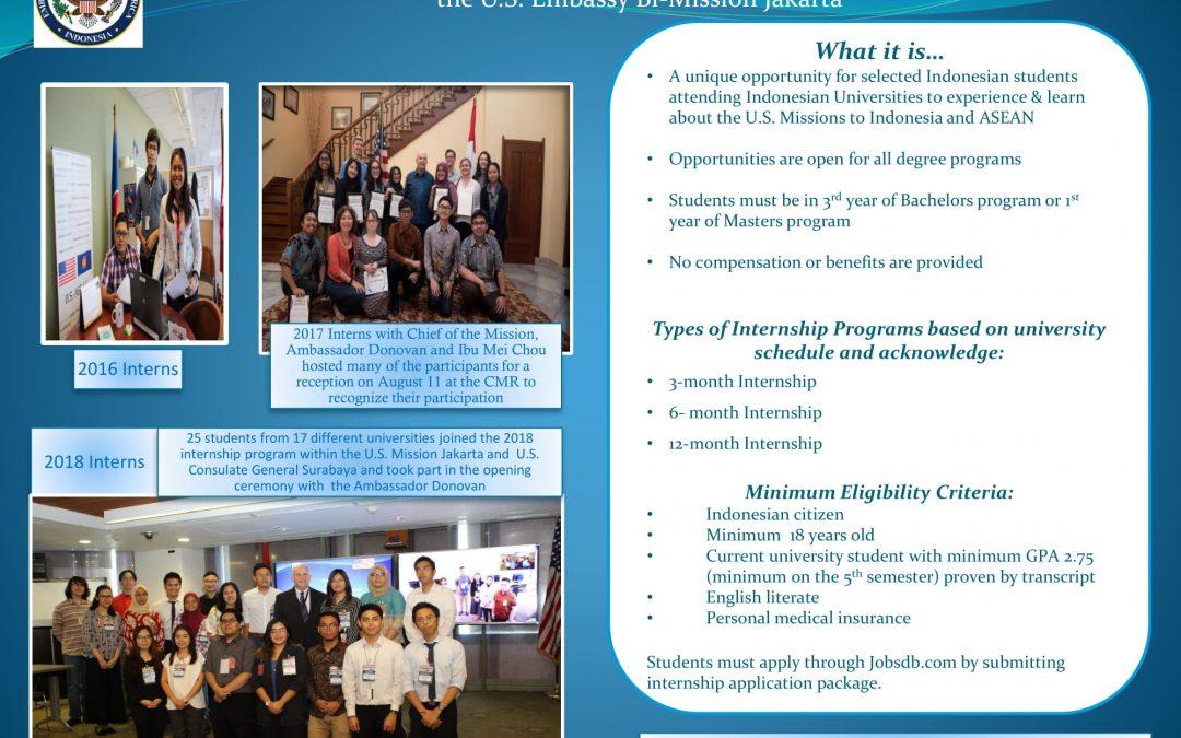 Seminar Internship at U.S Embassy