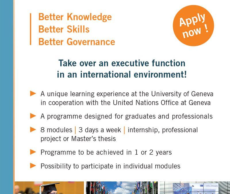 [Call for Applications] MEIG Scholarship Programme 2019-2020 in Université de Genève