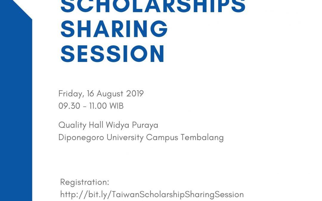 Taiwan Scholarships Sharing Session