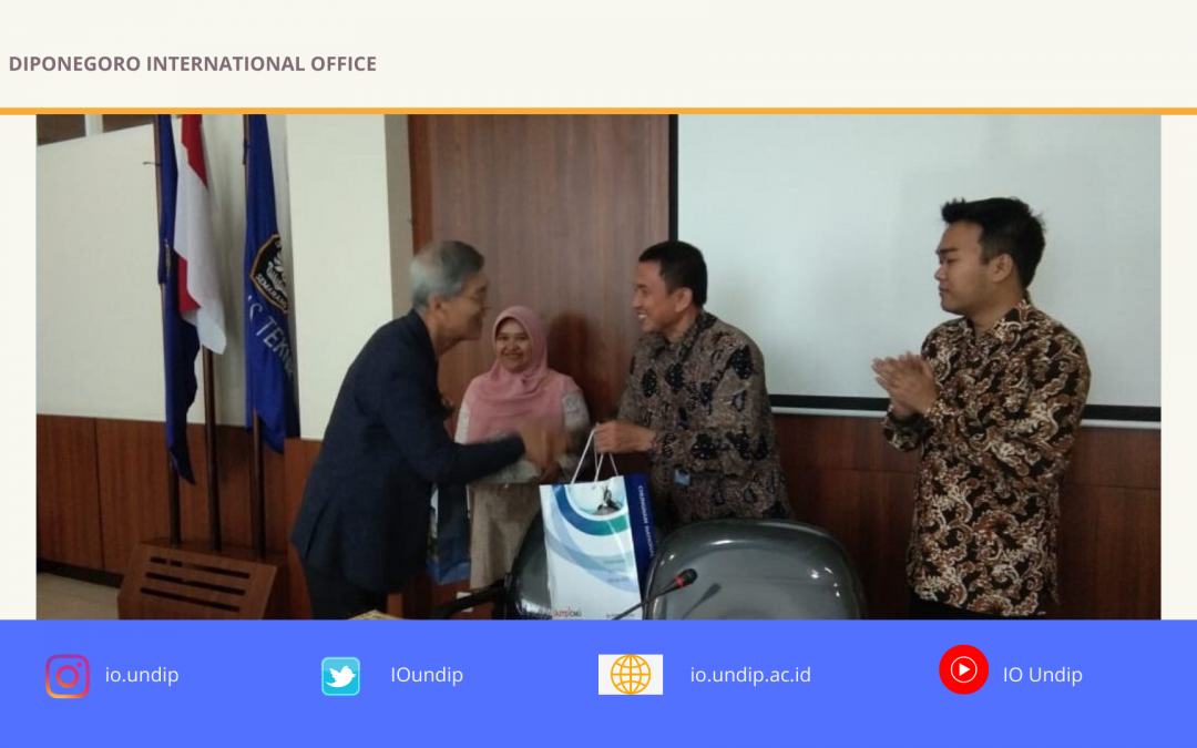 Promoting research on disaster mitigation, Chungnam University Korea pays a visit to Undip