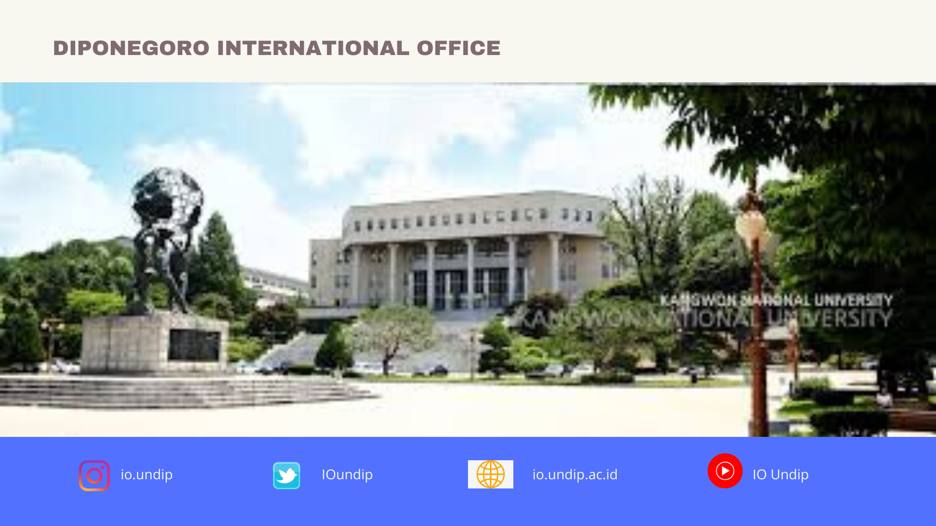 Kangwon National University (KNU), Call for fall application 2020