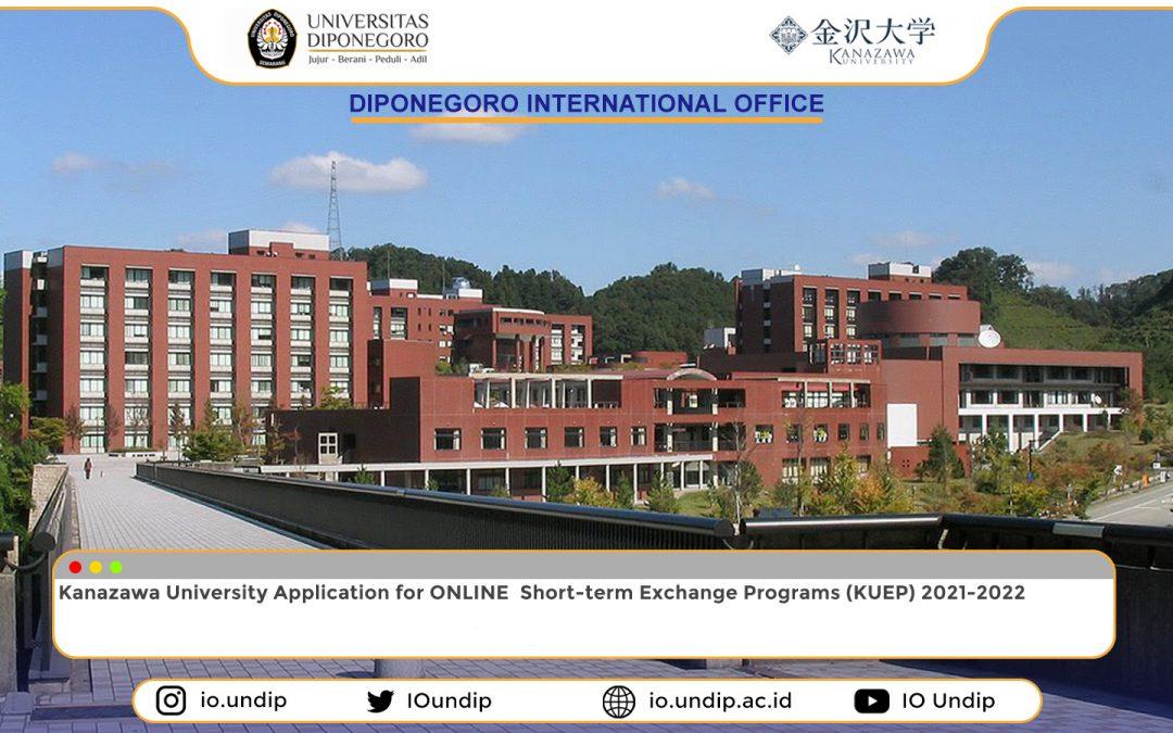 Kanazawa University Exchange Programs (KUEP) call for application
