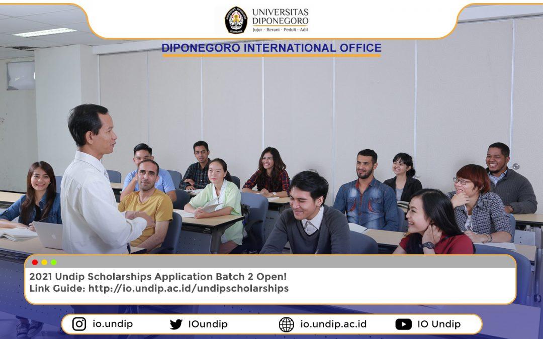 Undip Scholarships Batch II: Call for application